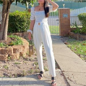 CUE Curated High Waisted Pants Tapered